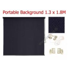 ฉากผ้าแบบติดผนังสีดำ 130x180cm. มาพร้อมขายึดและโซ่ม้วนผ้า(สามารถใช้งานได้ทันที)