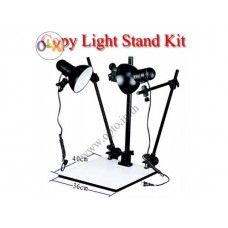 Copy Stand with 65Wx2 Continuous Day Light ขาตั้งและชุดหลอดไฟสำหรับถ่ายพระเครื่อง